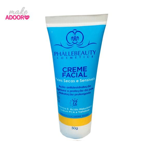 Creme Hidratante Facial Peles Secas e Sensíveis Phallebeauty