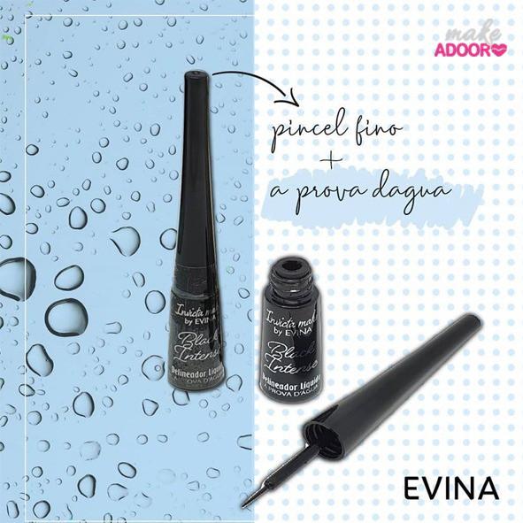 Delineador Líquido à prova d'água Invicta Make by EVINA