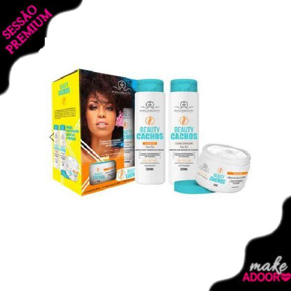 Kit Shampoo Condicionador e Máscara Beauty Phallebeauty - CACHOS