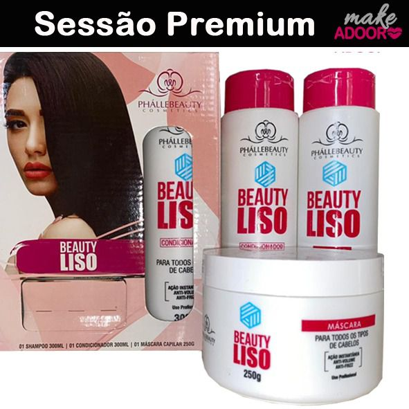 Kit Shampoo Condicionador e Máscara Beauty Phallebeauty - LISO