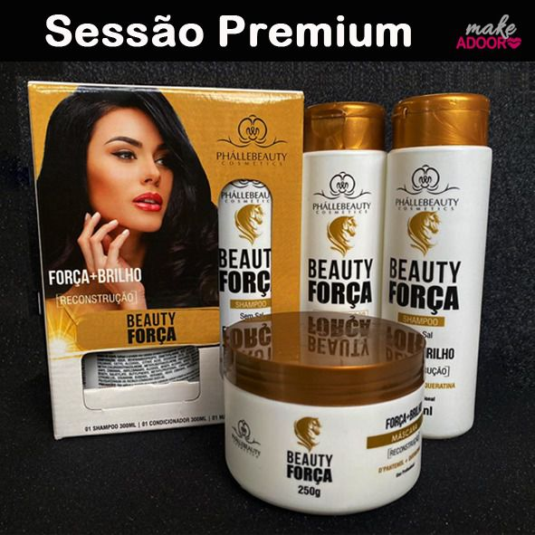 Kit Shampoo Condicionador e Máscara Beauty Phallebeauty - BEAUTY FORÇA