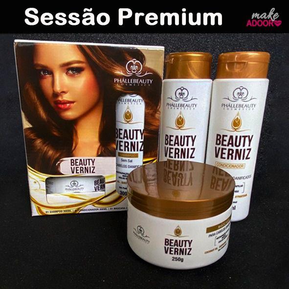 Kit Shampoo Condicionador e Máscara Beauty Phallebeauty - BEAUTY VERNIZ
