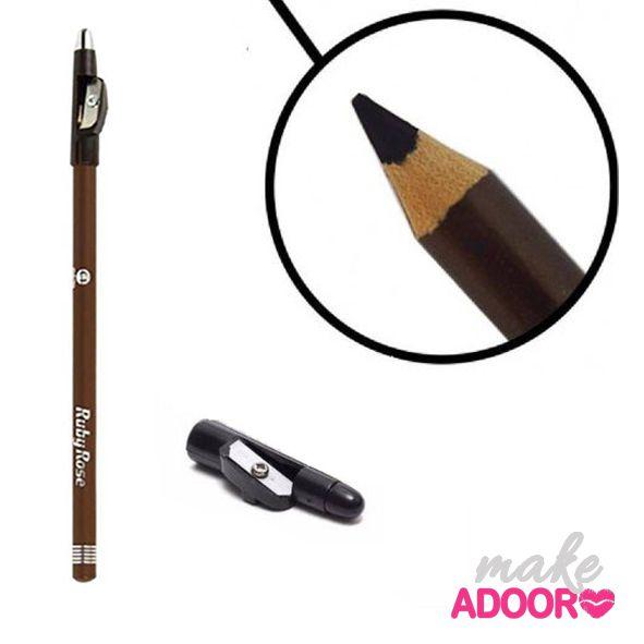 Lápis Delineador com Apontador Ruby Rose – Marrom
