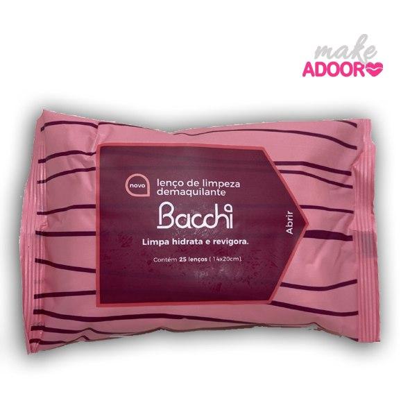 Lenço Demaquilante de Limpeza Bacchi
