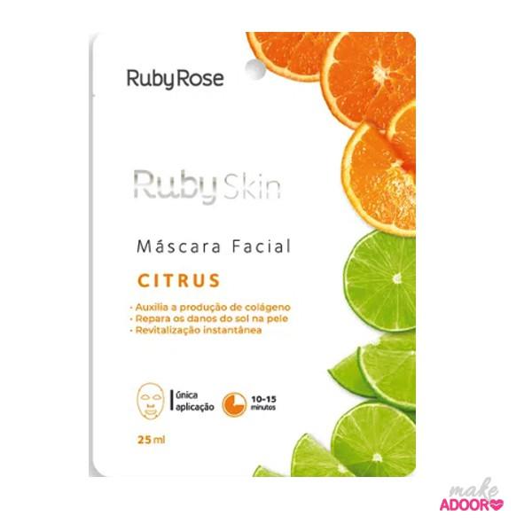 Máscara Facial de Tecido Citrus Ruby Rose