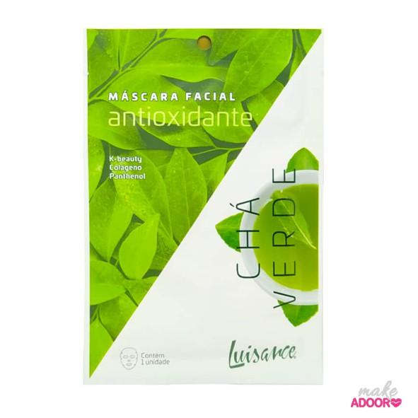 Máscara Facial Inteira Antioxidante Chá Verde Luisance