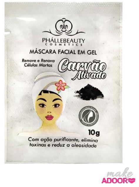 Máscara Sachê Carvão Ativado Phallebeauty