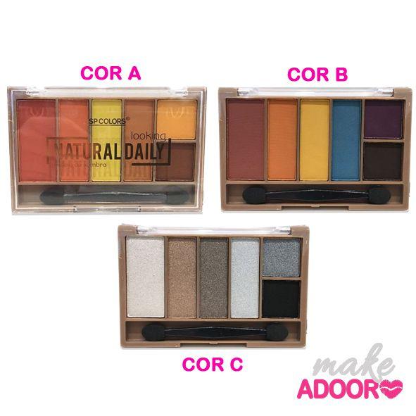 Paleta de Sombras 6 Cores Natural Daily SP Colors