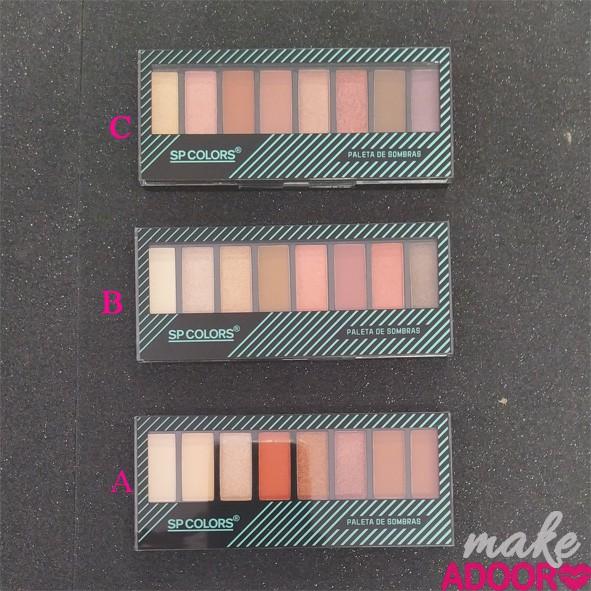 Paleta de Sombras 8 Cores SP Colors