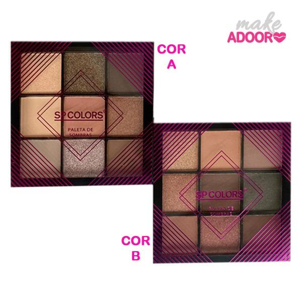 Paleta de Sombras 9 Cores SP Colors