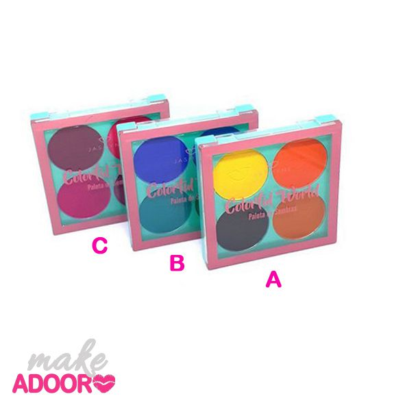 Paleta de Sombras Colorful World Jasmyne Modelos A, B e C