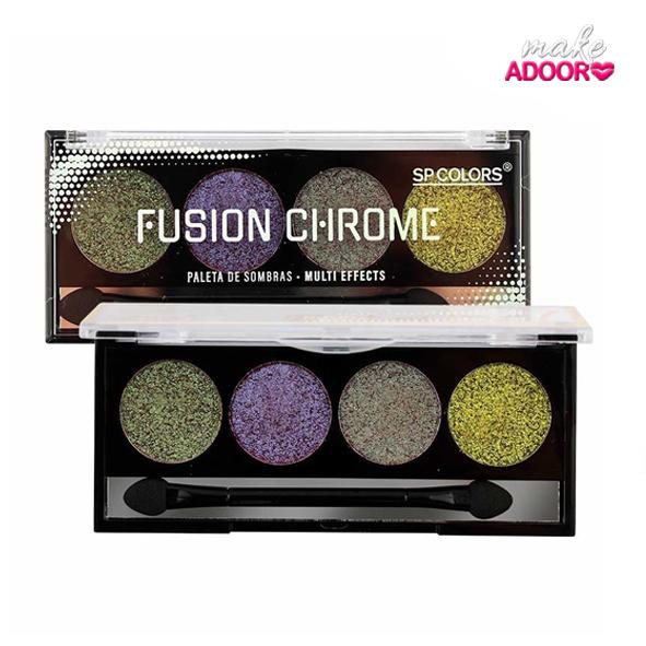 Paleta de Sombras Fusion Chrome Sp Colors