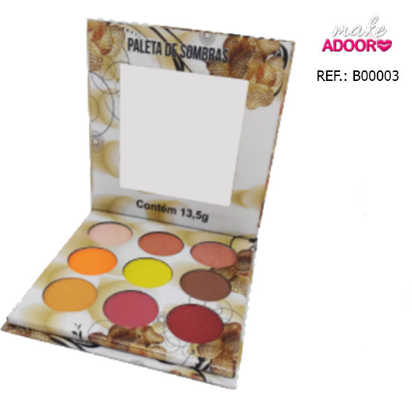 Paleta de Sombras Nuances Ludurana 9 Cores B00003