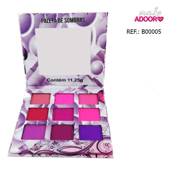 Paleta de Sombras Nuances Ludurana 9 Cores B00005