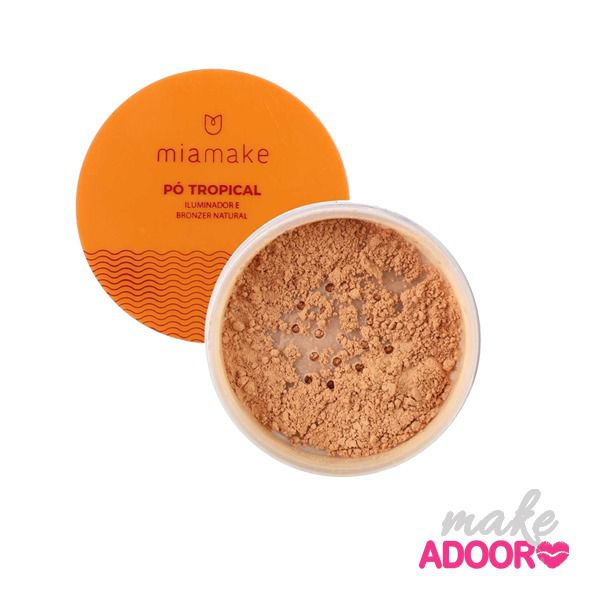 Pó Tropical Iluminador e Bronzer Mia Make