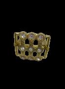 Anel Guardanapos Versailles Metal Dourado