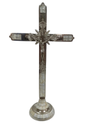 CRUCIFIXO MADREPEROLA  57CM C/BASE