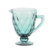 Jarra de Vidro 1L Diamond Azul Tiffany