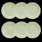 Jg 6 Pratos Sobremesa Cottage-Verde Menta-Germer