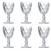 Jogo 6 taças para água diamond clear