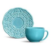 Jogo 6 Xícaras de Chá Marrakech Azul Poppy - Porto Brasil