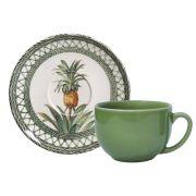 Jogo 6 Xícaras de Chá  Pineapple Green 198 ml - Porto Brasil