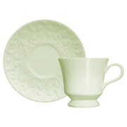Jogo 6 Xícaras de Chá Tassel Verde Menta