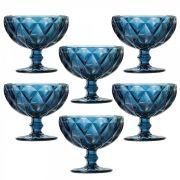 Jogo Taças Sobremesa Diamond Azul