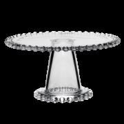 Prato Bolo Cristal Pearl com pé 31x11cm - Wolff
