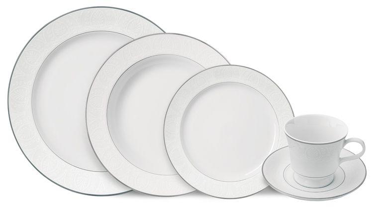 Aparelho de Jantar Capri Filete Prata 30 pçs - Germer