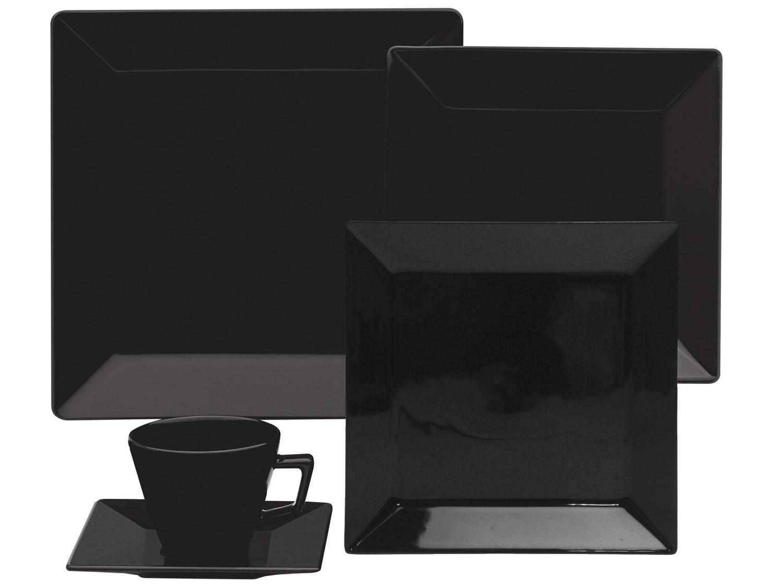 Aparelho de Jantar Chá 20 peças em Porcelana Quartier Black - Oxford