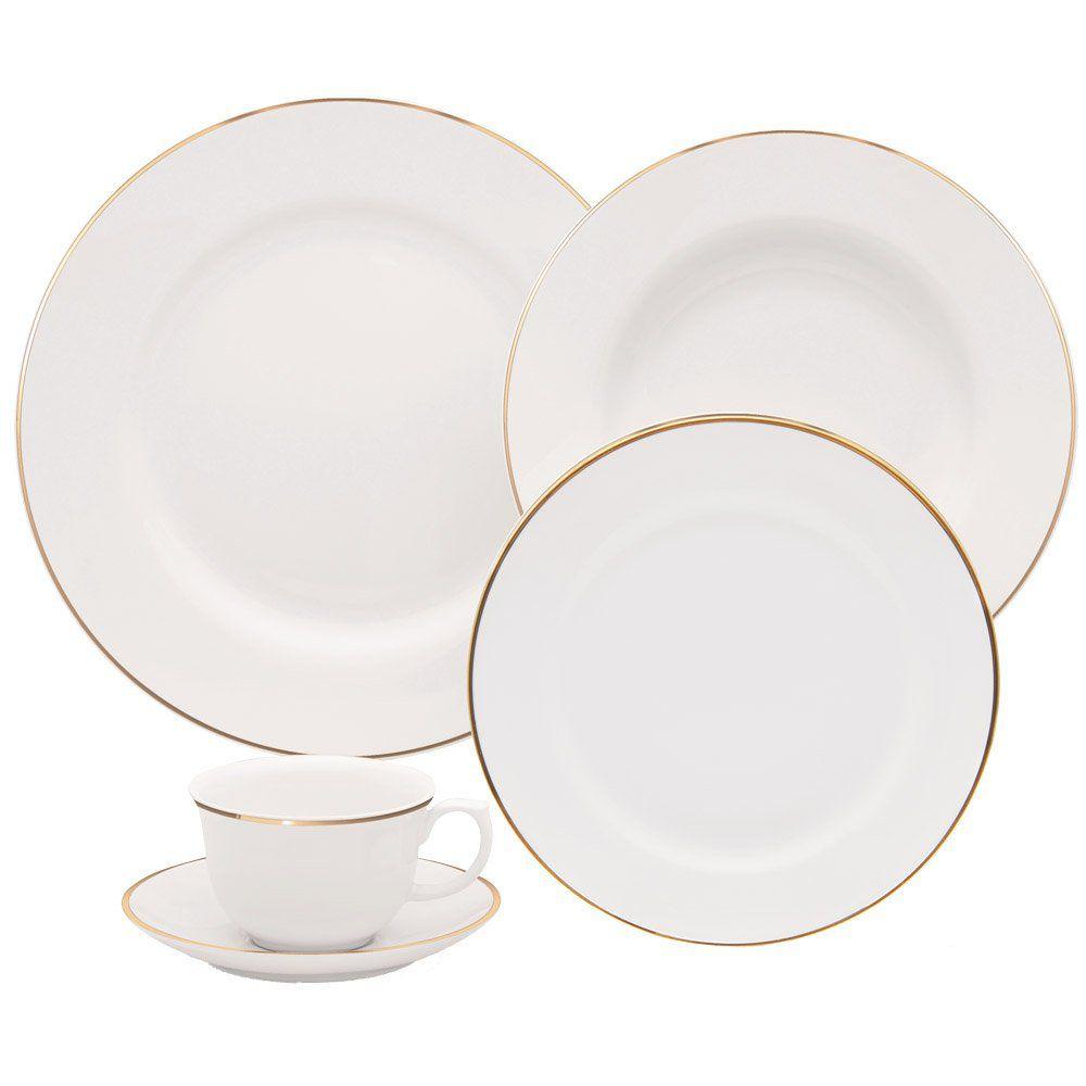 Aparelho de Jantar Sofia Ouro 30 pçs - Oxford