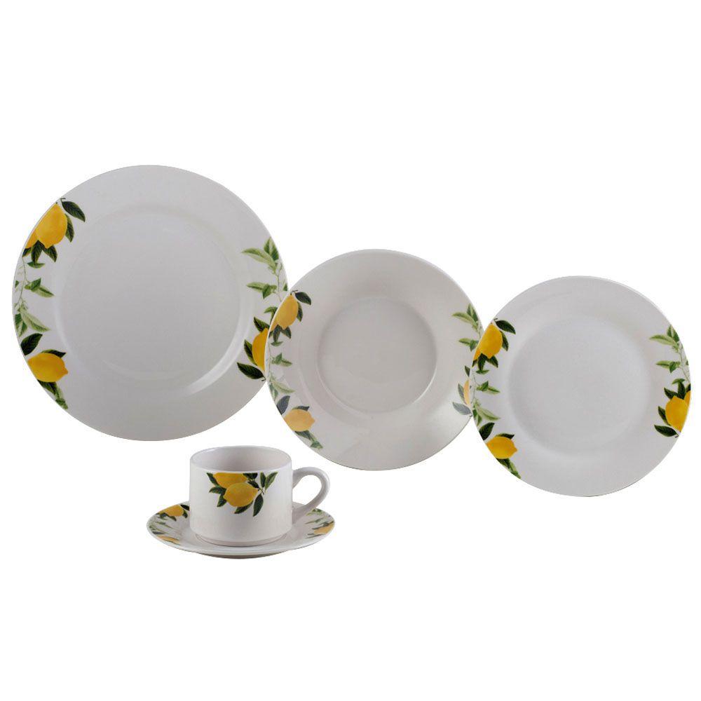 Aparelho Jantar 20pcs Porcelana Lemons