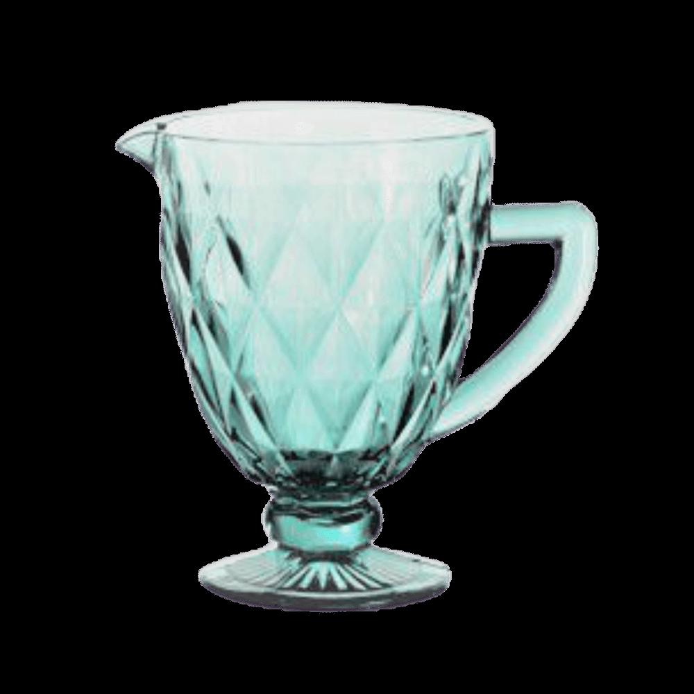 Jarra de Vidro 1L Diamond Azul Tiffany