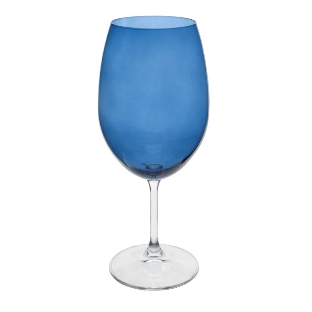 Jg 6 Taças Cristal Anna Azul Cobalto 600ml 58278