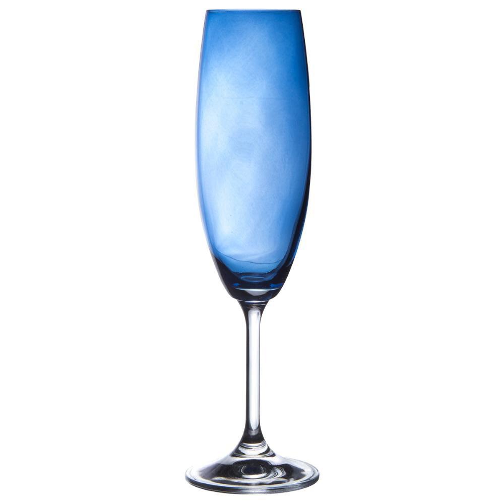 Jg 6 Tcs Champanhe 220ml Anna Azul Cobalto