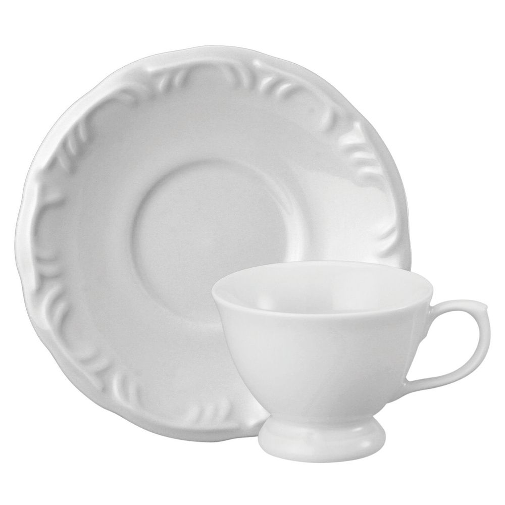 Jg 6 Xícaras Café Porcelana com Pires 80 ml Pomerode - Schmidt