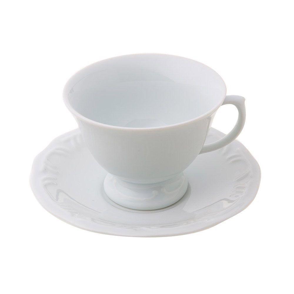 Jg 6 Xícaras Cha Porcelana com Pires 200 ml Pomerode - Schmidt