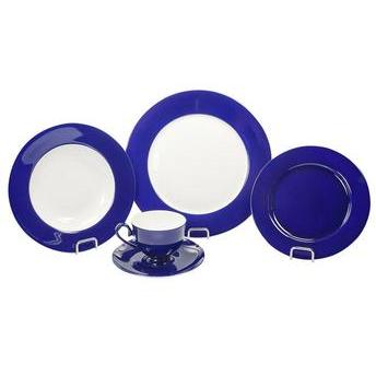 Jg Jantar Next Bone China 20 pçs Azul/Branco