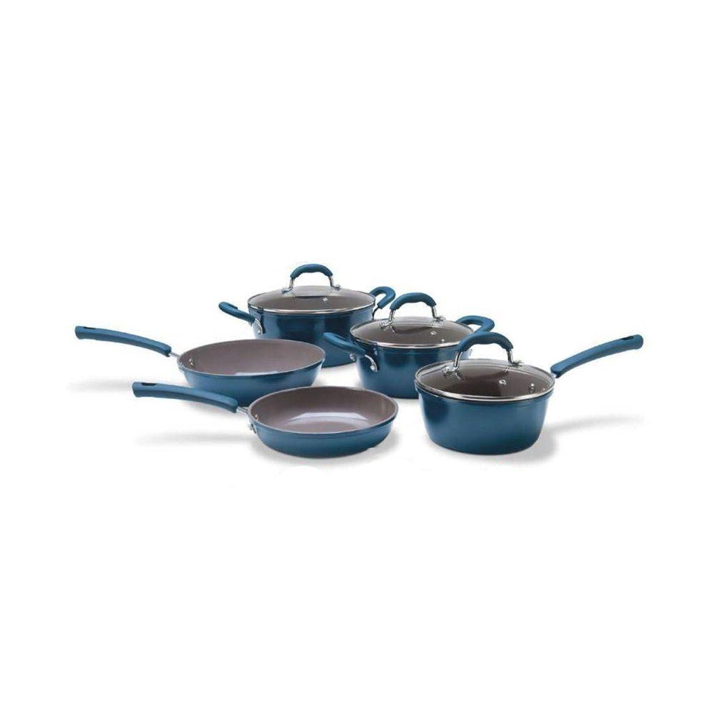 Jg Panelas 5Pçs Ceramica 4790/101 Life Verde Musgo Brinox