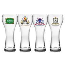 Jogo 4 copos  cerveja prague cristal logo sortida