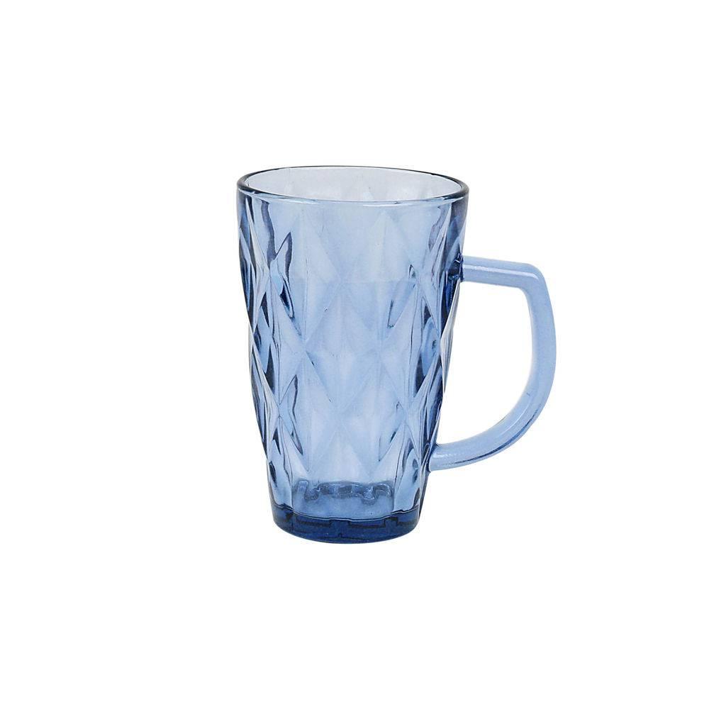 Jogo 6 copos Alça Diamond Azul 280ml