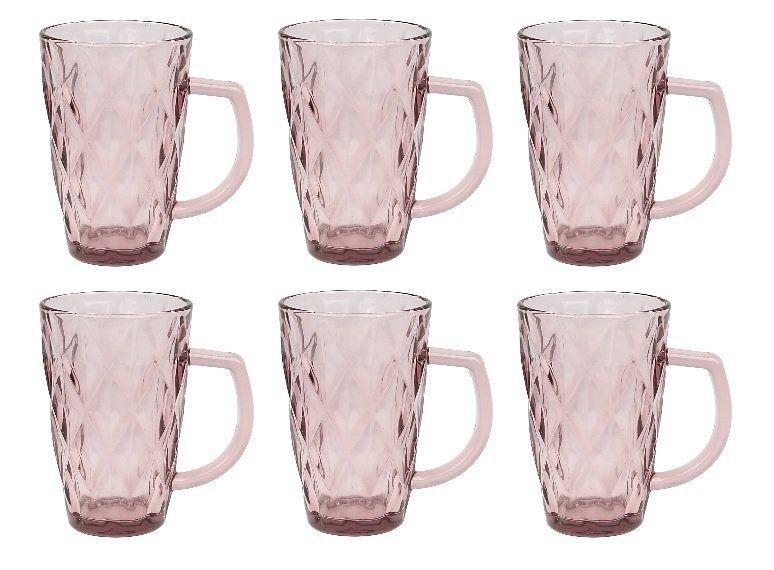Jogo 6 copos Alça Diamond Lilas 280ml