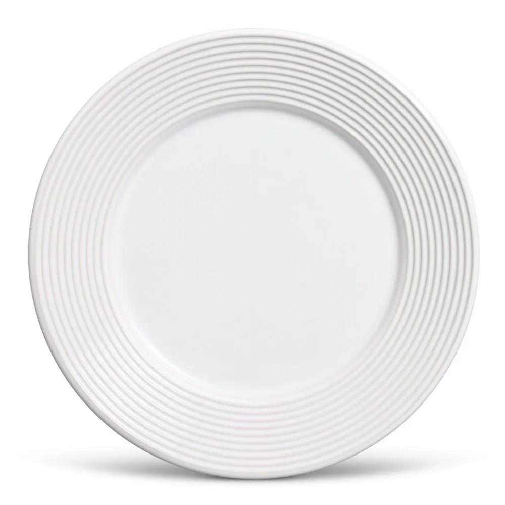 Jogo 6 Pratos Rasos Argos Branco - Schmidt