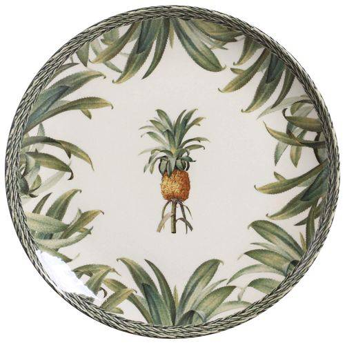 Jogo 6 Pratos Rasos Pineapple Green - Porto Brasil
