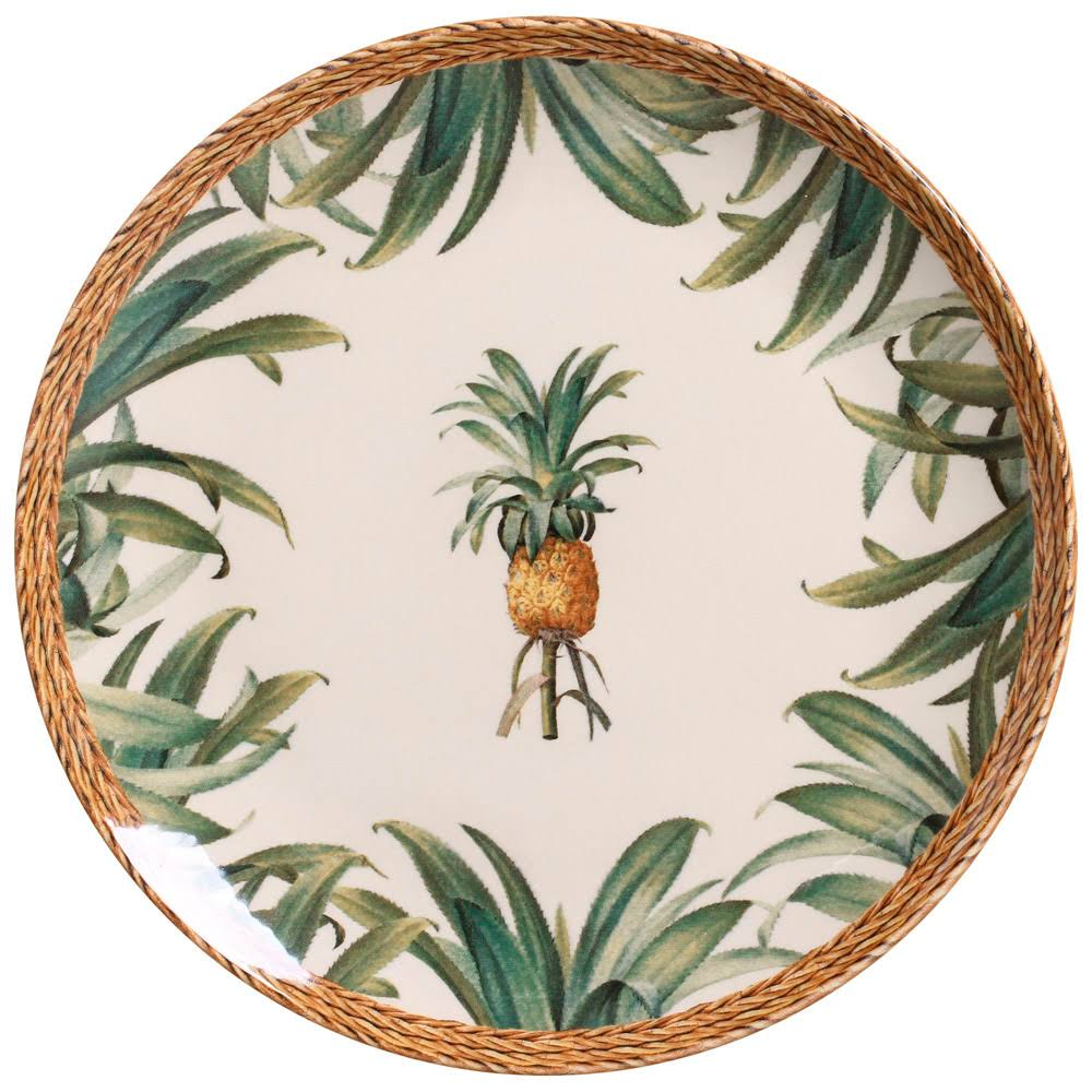 Jogo 6 Pratos Rasos Pineapple - Porto Brasil