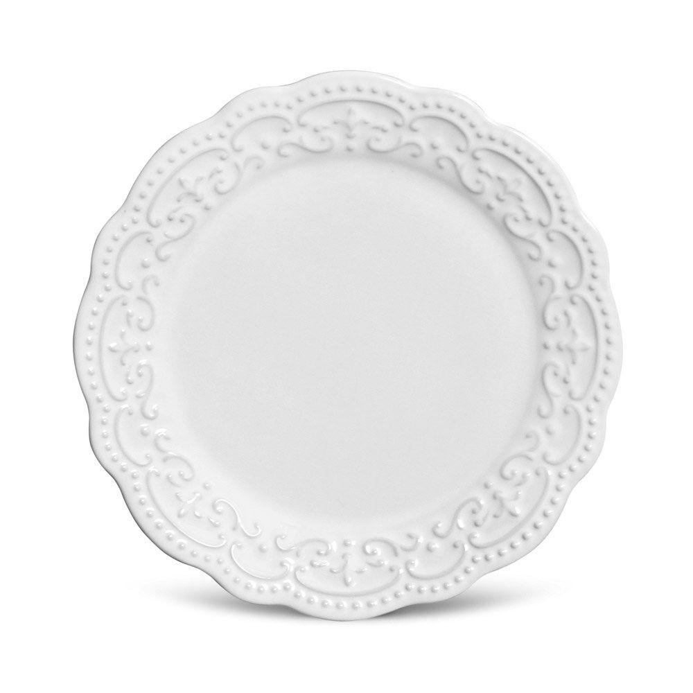 Jogo 6 Pratos Sobremesa Passion Branco - Porto Brasil
