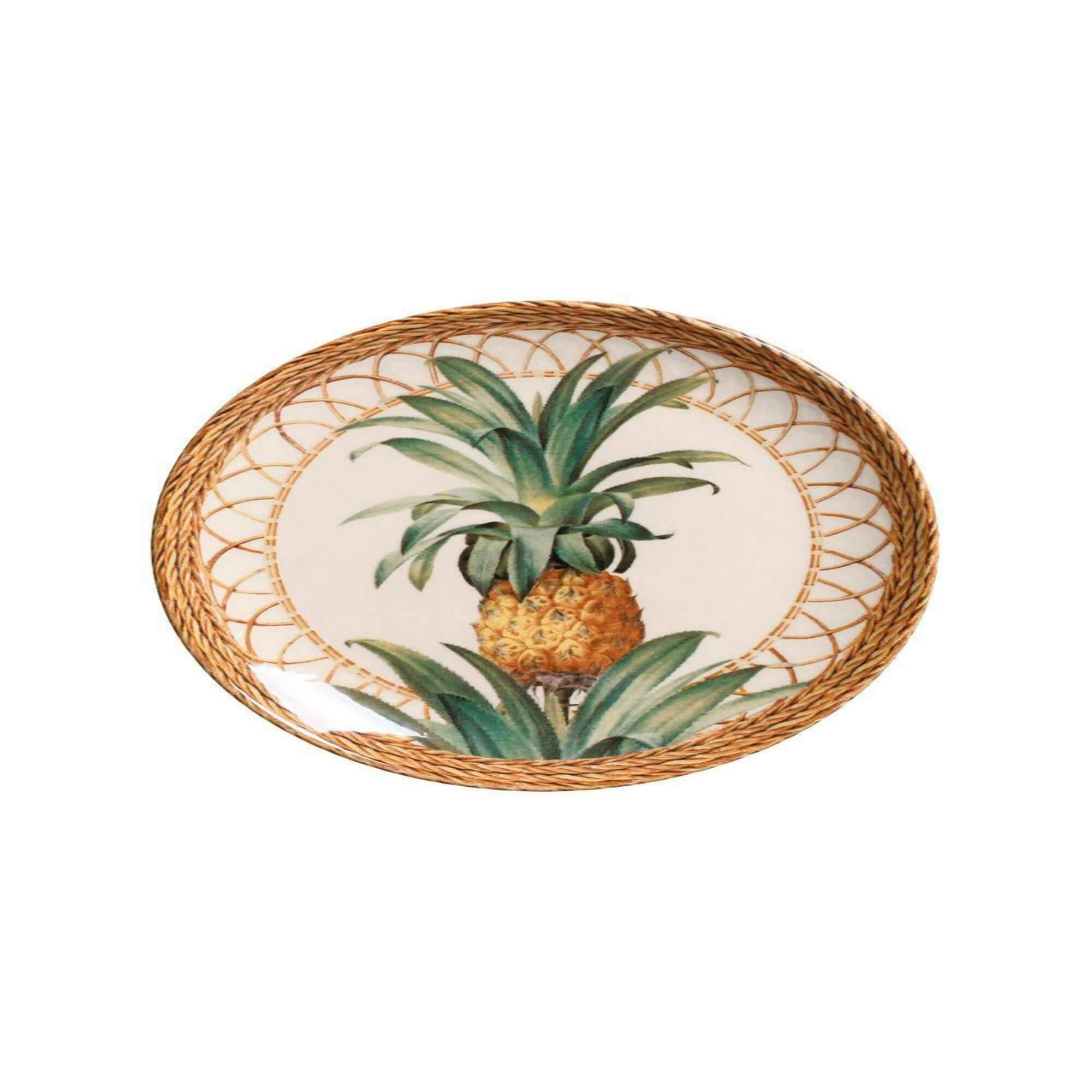 Jogo 6 Pratos Sobremesa Pineapple - Porto Brasil