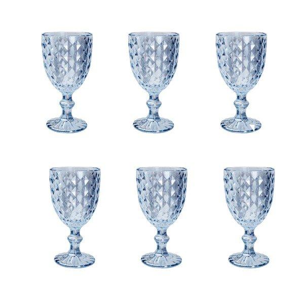 Jogo 6 taças água Roman Azul