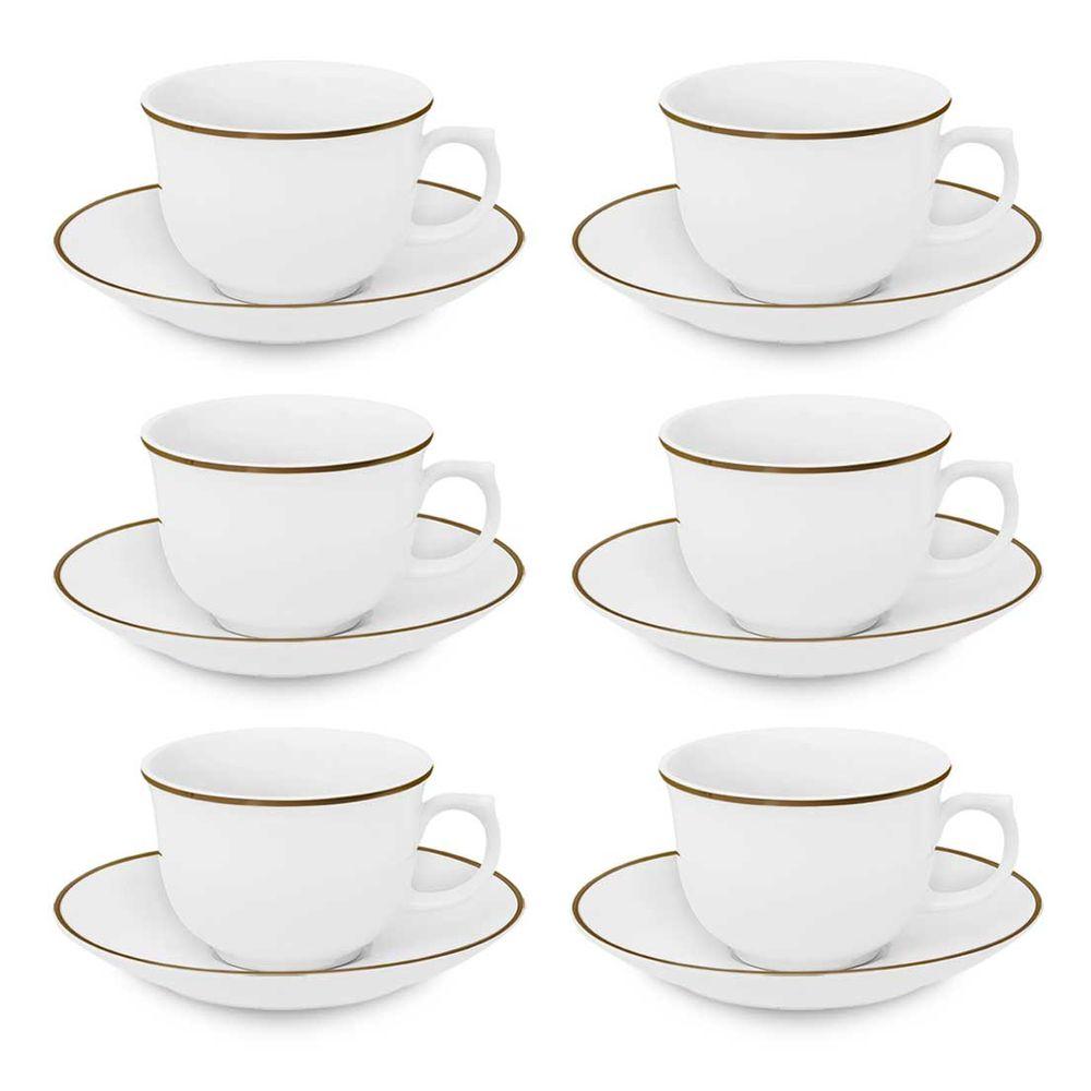 Jogo 6 xícaras de chá Sofia 240 ml